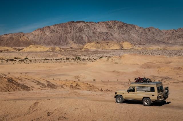 Driving Through the Carrizo Badlands of Anza Borrego