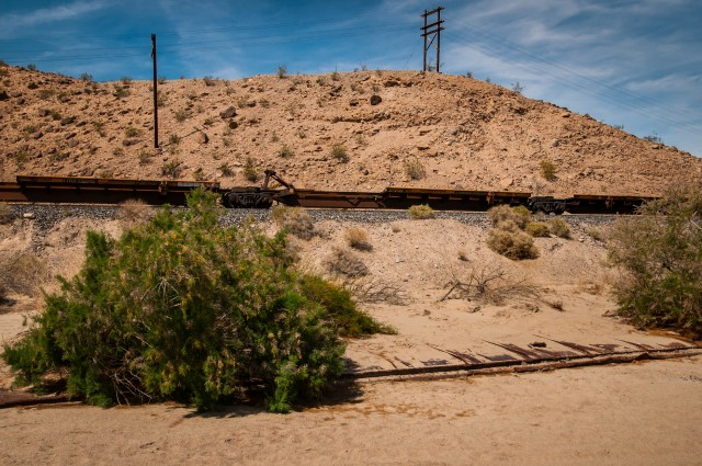 Burried Boxcar in Afton Canyon