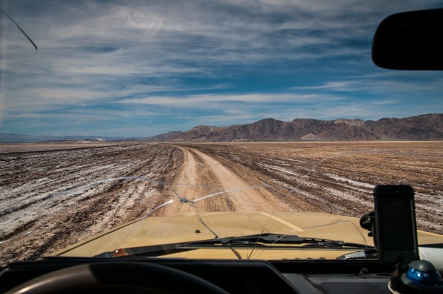 Driving Dry Soda Lake