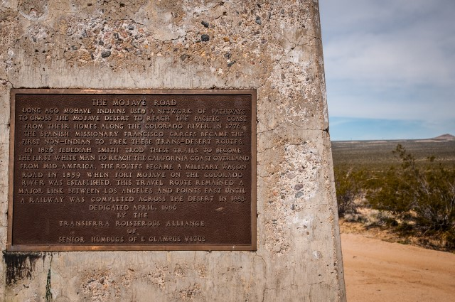 Mojave Road Plaque